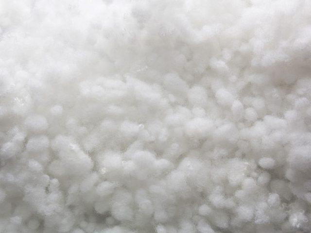 Closeup of white synthetic winterizer texture